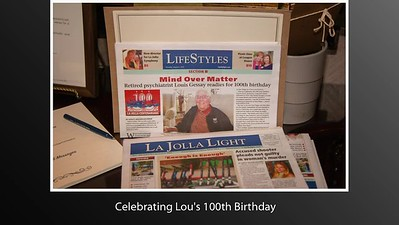 Uncle Lou's 100th Birthday