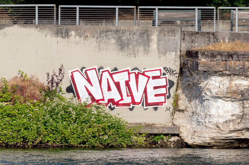Graffiti across the Willamette River