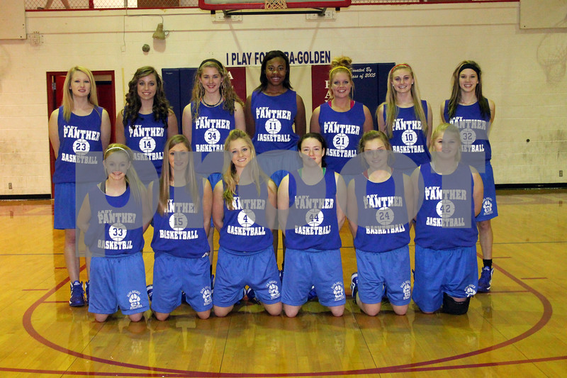 Alba-Golden Varsity Girls Basketball Team