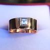 0.40ct Carre Cut Rose Gold Band 27