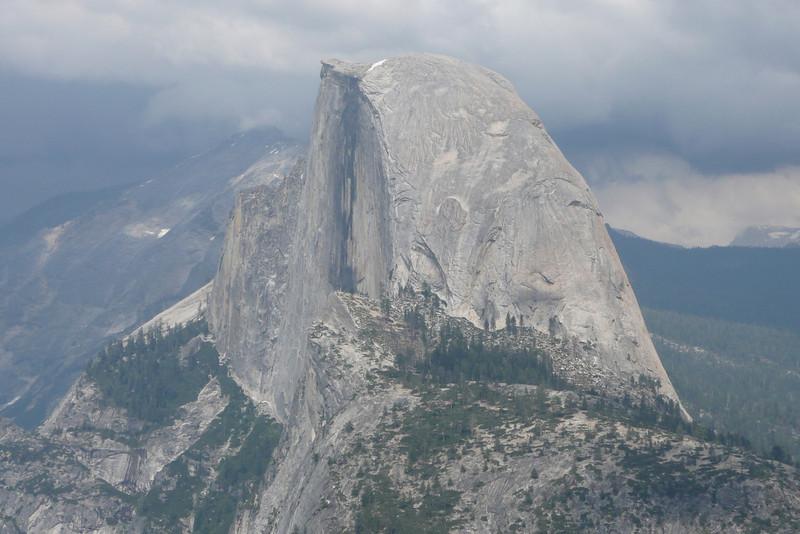Half Dome seen from Glacier Point. Yosemite NP