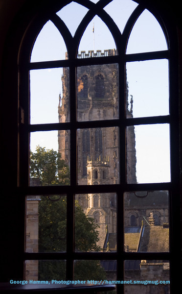 Durham Castle - view of the cathedral from the gallery