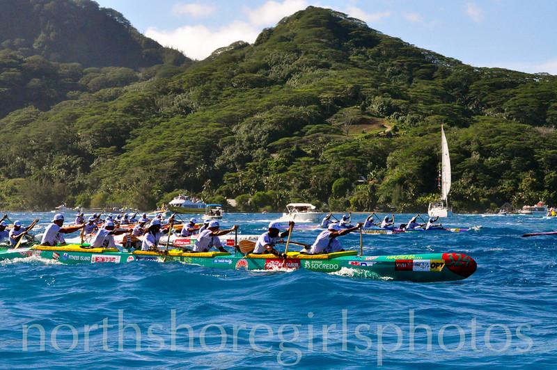 Hawaiki Nui Va'a Paddling Race  Team Matairea Ho'e Hua Hine Tahiti