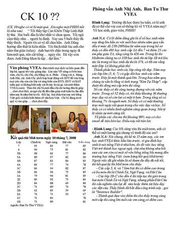 VYEA 2008  PTA Magazine