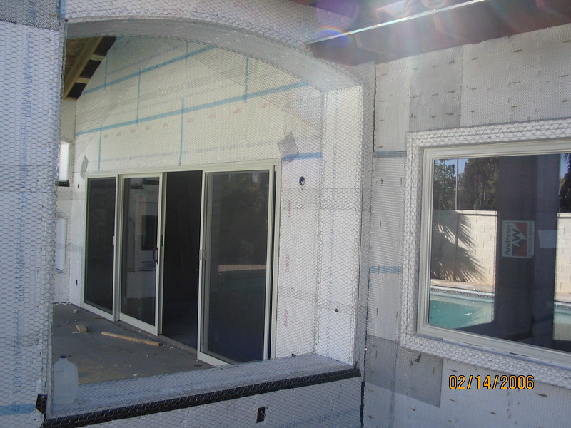 Ready for the stucco.
