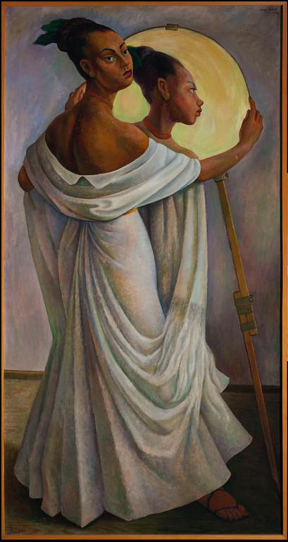 . Portrait of Ruth Rivera, Diego Rivera, 1949, oil on canvas, Colección Juan Rafael Coronel Rivera, photographer: Francisco Kochen