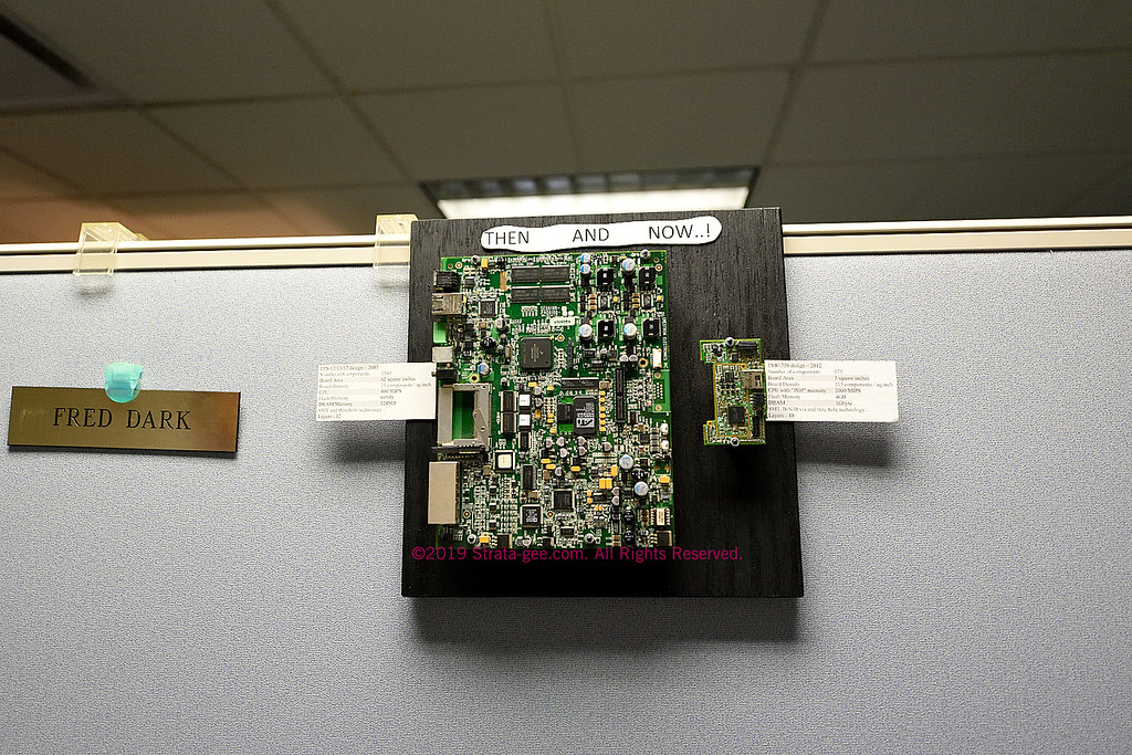 Progress in PC board design, two boards developed by Crestron engineering
