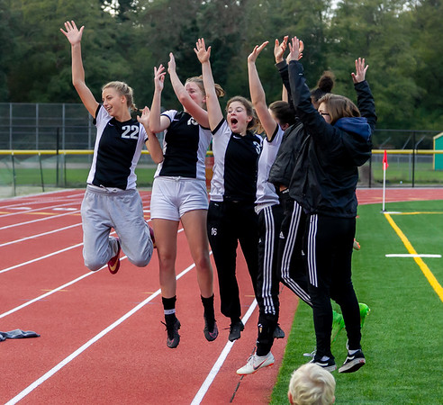Vashon Island High School Girls Soccer Seniors Night Fall 2018