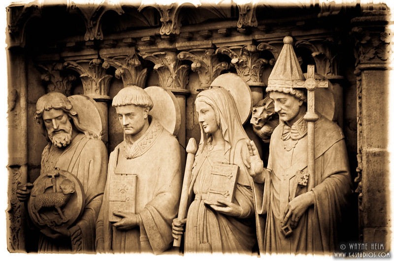 Statues of Notre Dame     Photography by Wayne Heim