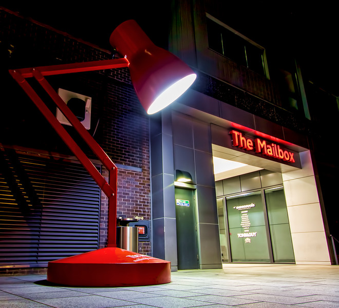 Giant Desk Lamp, The Mailbox, Birmingham, England