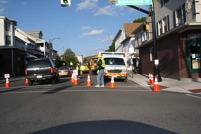 Sewer Repairs, East Broad Street, SR209, Tamaqua (4-27-2012)