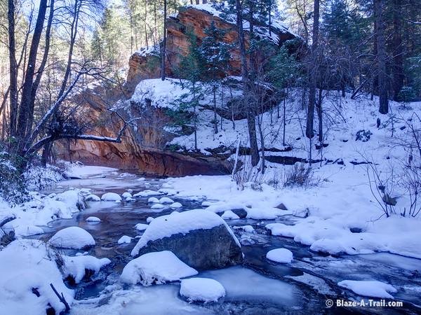 Sedona's West Fork Trail in Winter (December 2015)