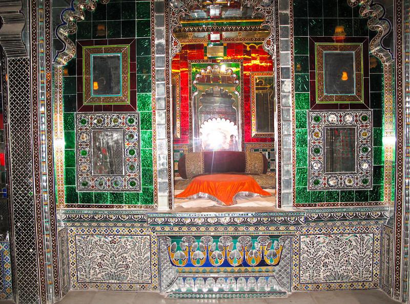 Beautiful tiled glass mosaics at City Palace