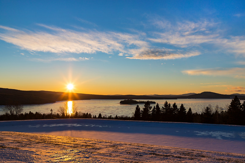 Sunset on Rangeley Lake