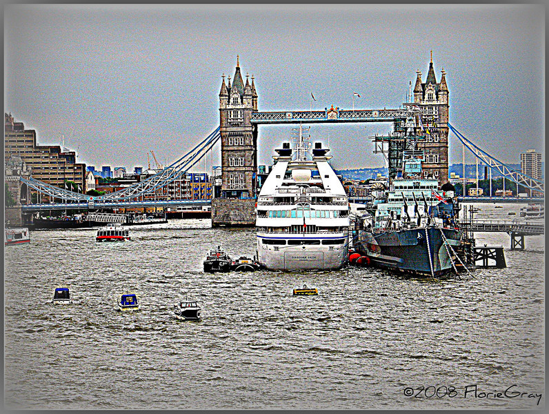Rainy Afternoon on the Thames 