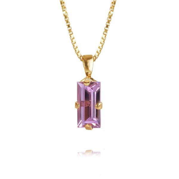 Baguette Necklace / Violet Gold
