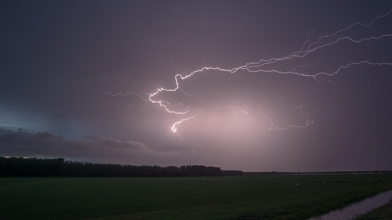 Lightning. lpendam, The Netherlands.