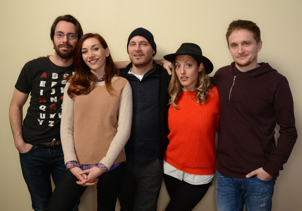 . (L-R) Actors Martin Starr, Jocelyn DeBoer, Vegar Hoel, and Ingrid Haas and filmmaker Tommy Wirkola pose for a portrait during the 2014 Sundance Film Festival at the WireImage Portrait Studio at the Village At The Lift on January 20, 2014 in Park City, Utah.  (Photo by Larry Busacca/Getty Images)