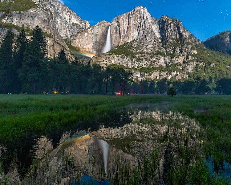 Yosemite Moonbow and Reflection