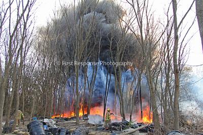 McKinney Texas.  Trinity Falls  Mutual Aid wildland/ rubbish fire. 12/17/16
