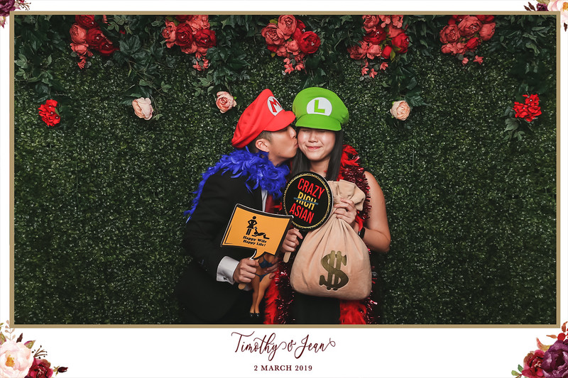 Wedding of Timothy & Jean | © SRSLYPhotobooth.sg