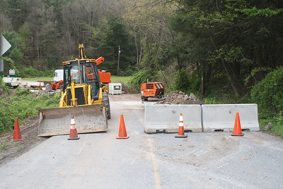 Bridge Closed, Catawissa Road, Lewistown Valley (4-28-2012)