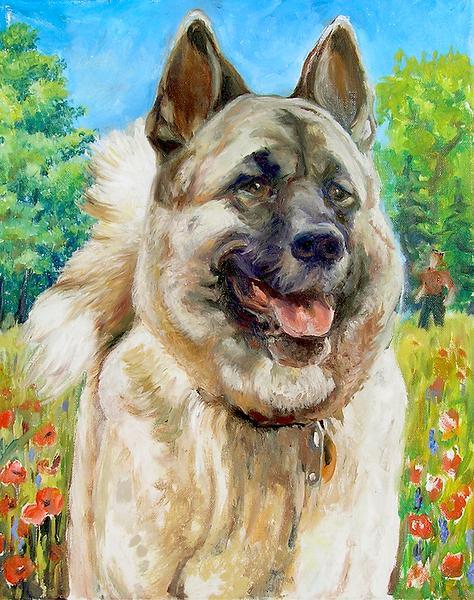 Beautiful German Shepherd (Oil Painting).png
