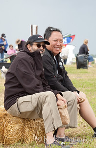 The 2011 Windscape Kite Festival in Swift Current, Saskatchewan. June 26, 2011.   Jeffrey Burka, Gary Mark.  © Rob Huntley