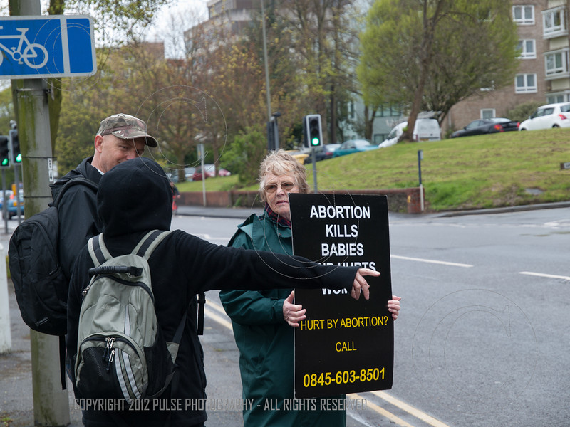 Society for the Protection of Unborn Children, curbside vigil - Brighton