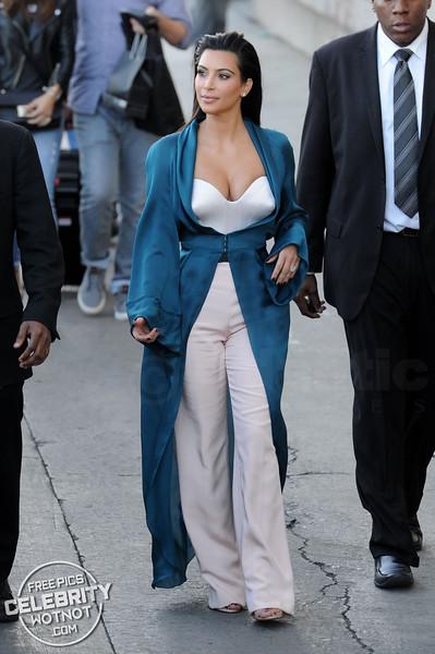 Kim Kardashian In Plunging White Top in Hollywood!