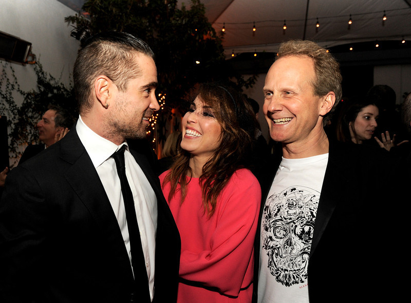 """. Actors Colin Farrell, Noomi Rapace and director Niels Arden Opley pose at the after party for the premiere of FilmDistrict\'s \""""Dead Man Down\"""" at the Lexington Social House on February 26, 2013 in Los Angeles, California.  (Photo by Kevin Winter/Getty Images)"""