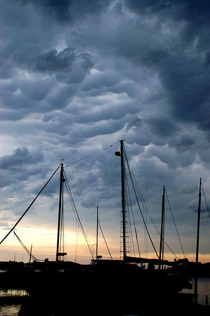 Storm Over Grand Marais Harbor