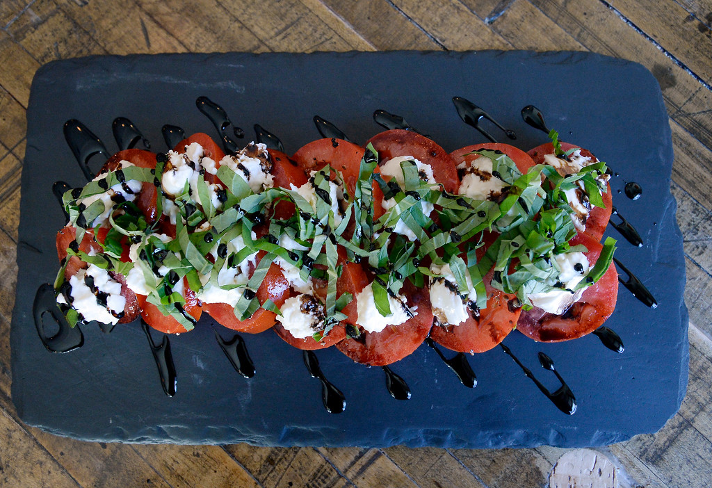 . LOUISVILLE, CO - November 14, 2018: Caprese salad at 12 Degree Brewing in Louisville.  (Photo by Cliff Grassmick/Staff Photographer)