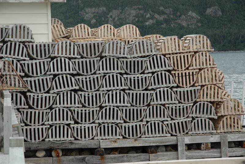 Lobster boxes, Lark Harbour, Newfoundland, July 2006