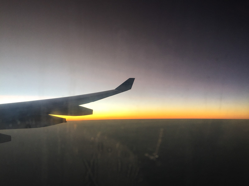 Our first glimpse of the African sun