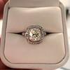 2.85ct Antique Cushion Cut Diamond Halo Ring 48