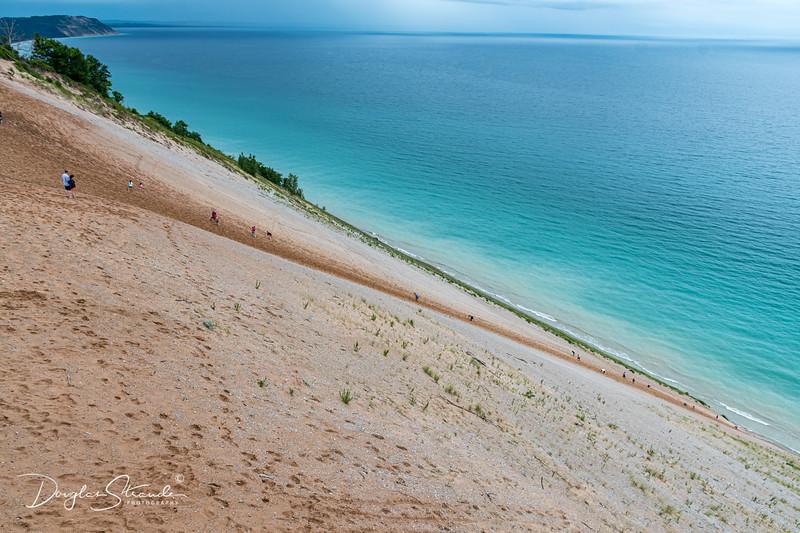 Sleeping Bear Dunes on Lake Michigan