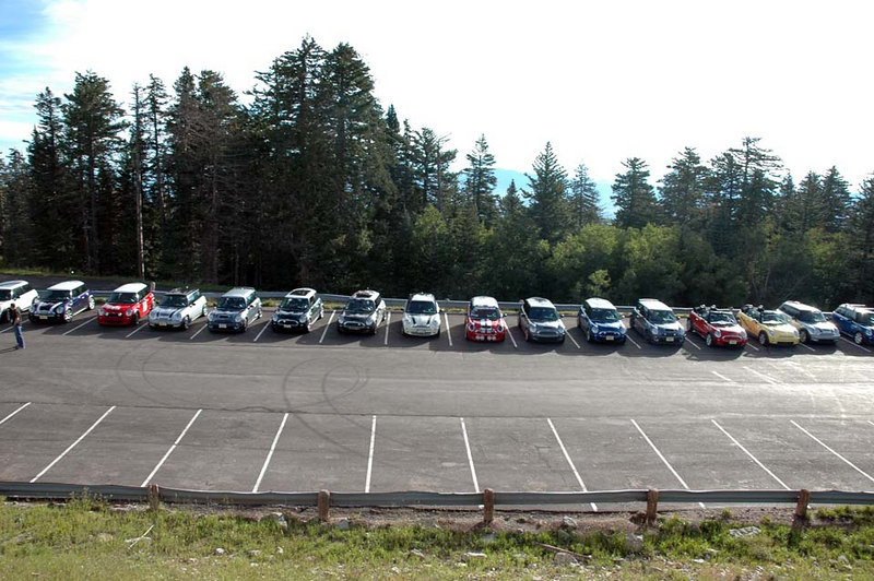 Just a sampling of the MINIs. Some were in the other parking lot.