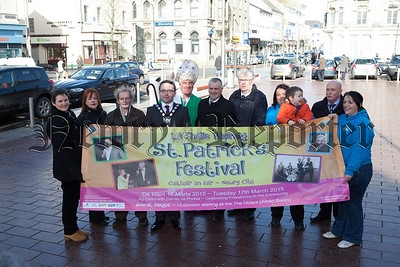 Mayor Daire Hughes launches this YEars St Patricks Day festival which  will take place on March 17th. R1510013