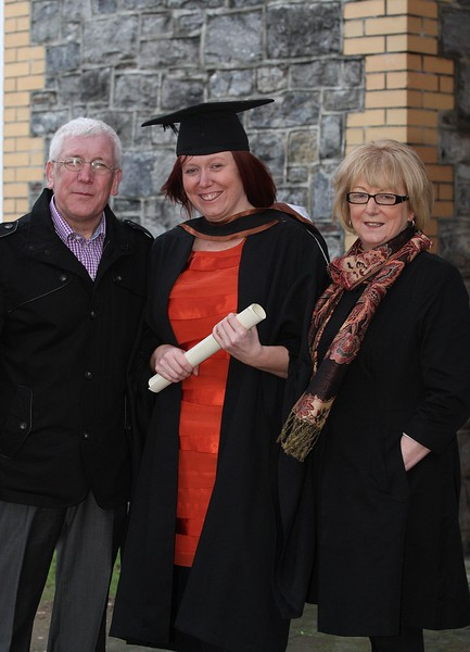 5/1/2012. News. Free to use image. Waterford Institute of Technology (WIT) Graduation. Pictured is Lynn O'Mahoney from Waterford who graduated in Bachelor of Science (Honours) in General Nursing, also pictured is her parents Catherine and Michael. Photo Patrick Browne