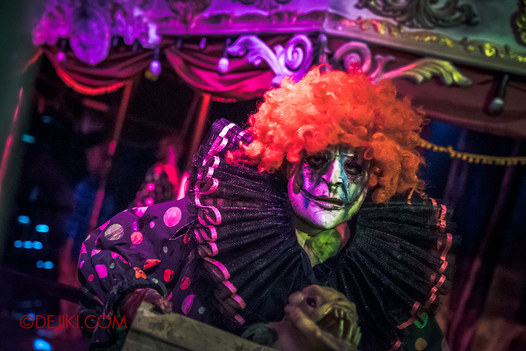 Halloween Horror Nights 6 Final Weekend - Bodies of Work revisited / Carousel real clown
