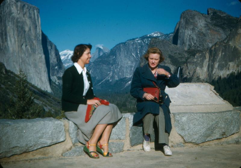 Alice and Velma, Yosemite 1951