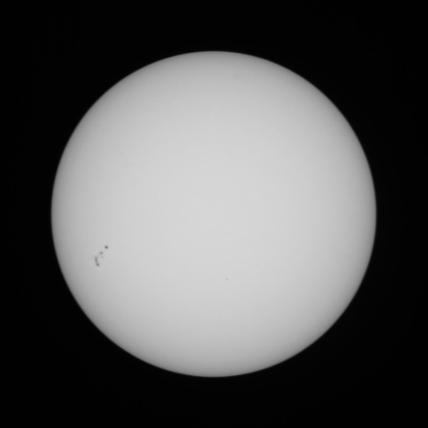 Sun with Sunspots - 6/11/2020 (Processed stack)