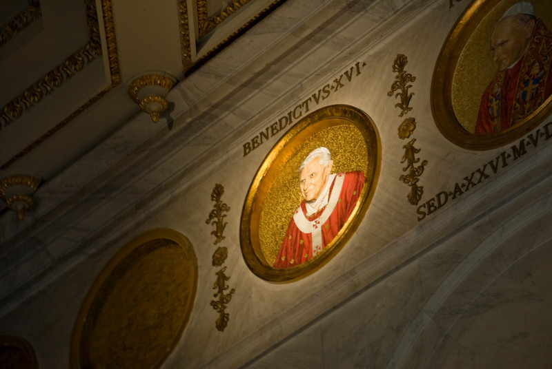 Photo of Pope Benedict XVI inside St. Paul's Basilica in Rome, Italy