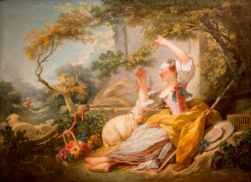 Frogonard: The Shepherdess