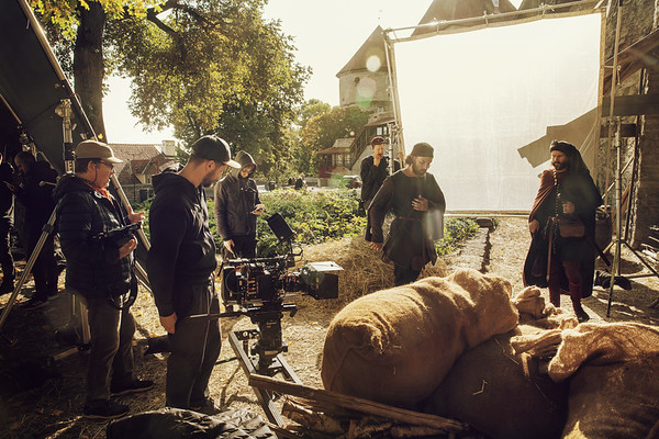 Apteeker Melchiori filmimine Tallitorni juures