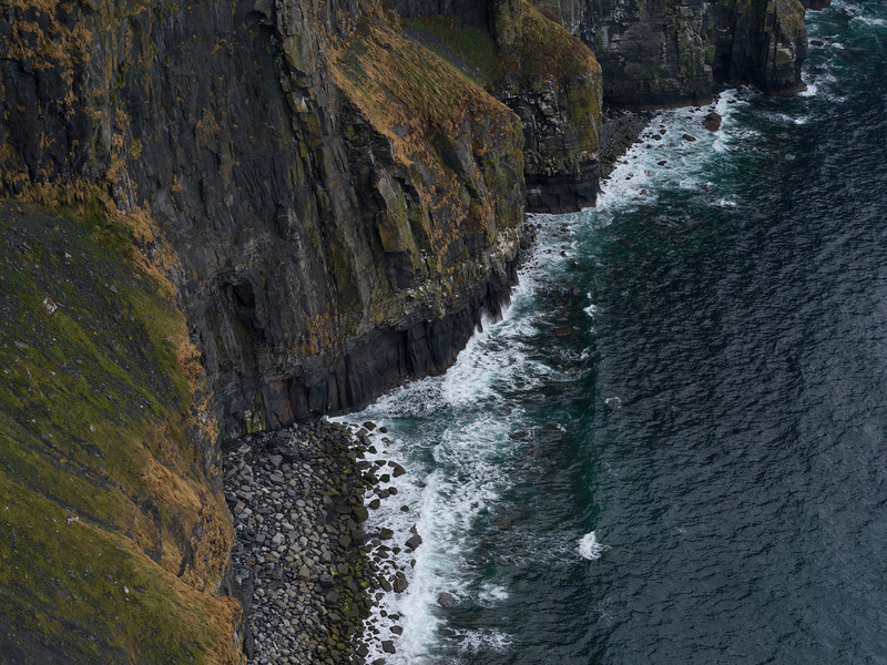 View of cliff, Cliffs of Moher, Lahinch, County Clare, Ireland