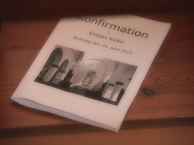 Konfirmation 26.04.2013 Esajas Kirken