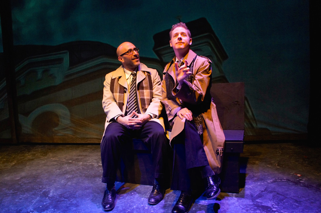 . Craig Joseph, left, as Louis Ironson,and Scott Esposito, as Prior Walter, perform a scene in the Ensemble Theatre production of the first part of �Angels in America.� The show continues through Jan. 28. For more information, visit www.ensembletheatrecle.org.  (Celeste Cosentino)