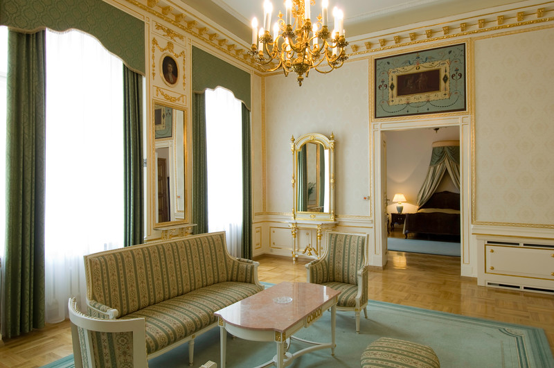 Poland, Cracow, Grand Hotel in Old Town, suite ( Apartament Kominkowy )